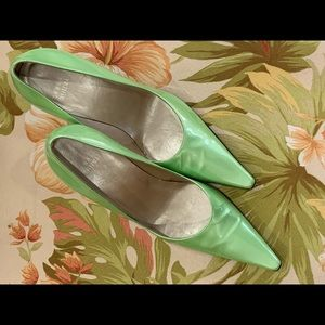 Stuart Weitzman Melon Green Patent leather Shoe